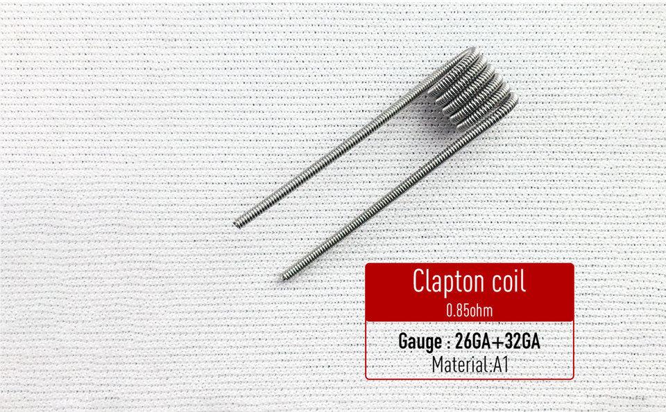 Clapton Coil Hazır Sarılı Tel