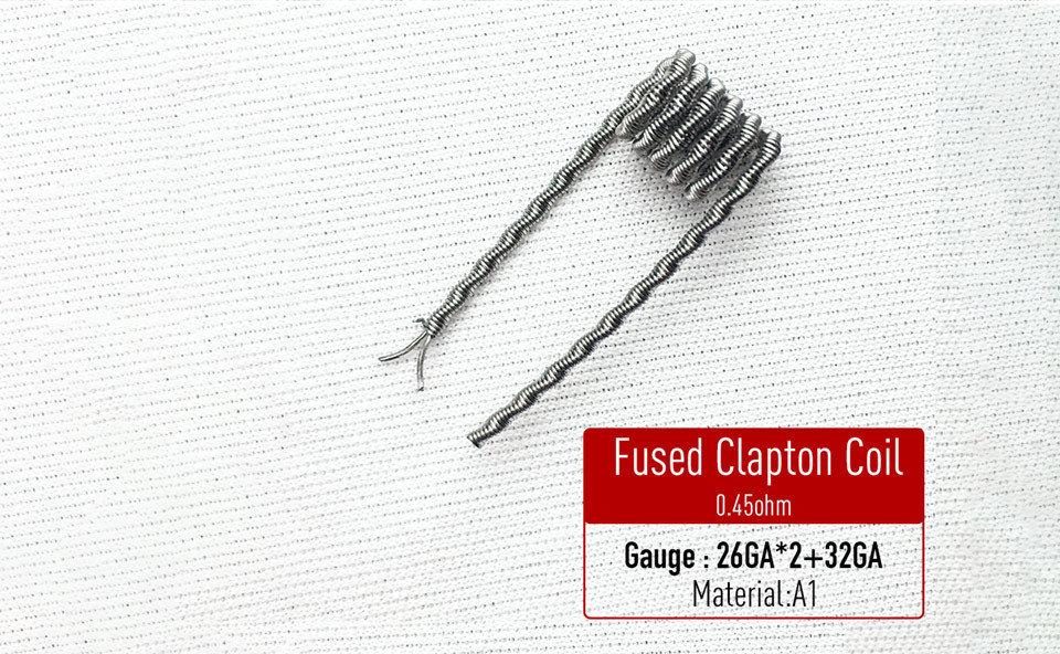 Fused Clapton Coil Hazır Sarılı Tel