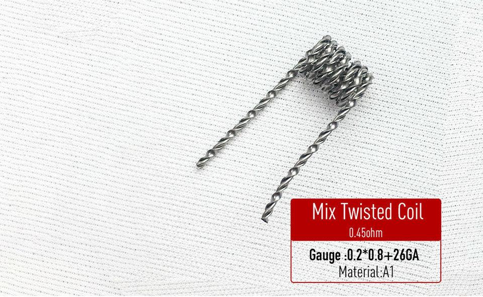Mix Twisted Coil Hazır Sarılı Tel