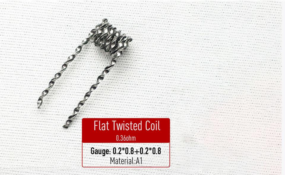 Flat Twisted Coil Hazır Sarılı Tel