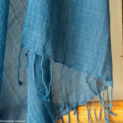 Stole cotton dyed with Indigo