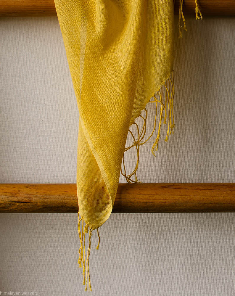 Stole cotton dyed with tesu flowers