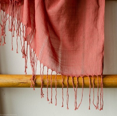 Stole cotton dyed with madder
