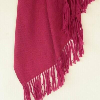 Handwoven Shawl Wool and Eri Silk Dyed with Sappanwood