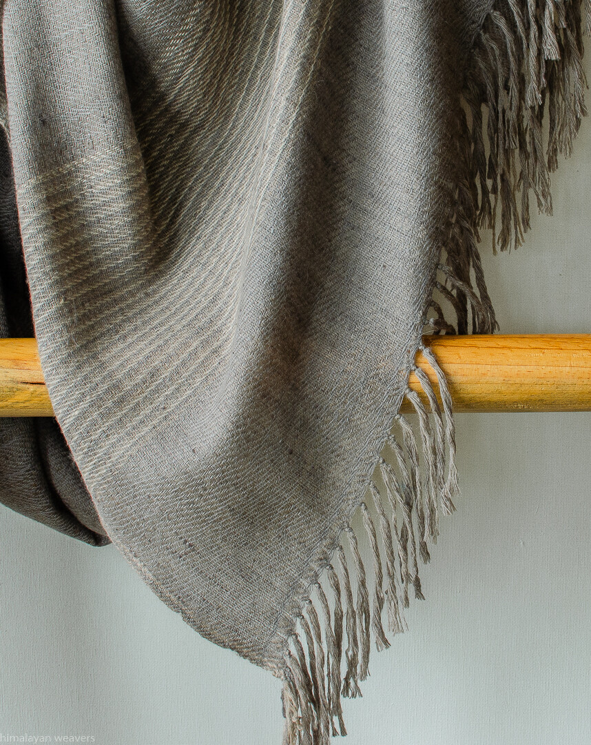 Hand-woven Pashmina Shawl dyed with harada (myrobalan)