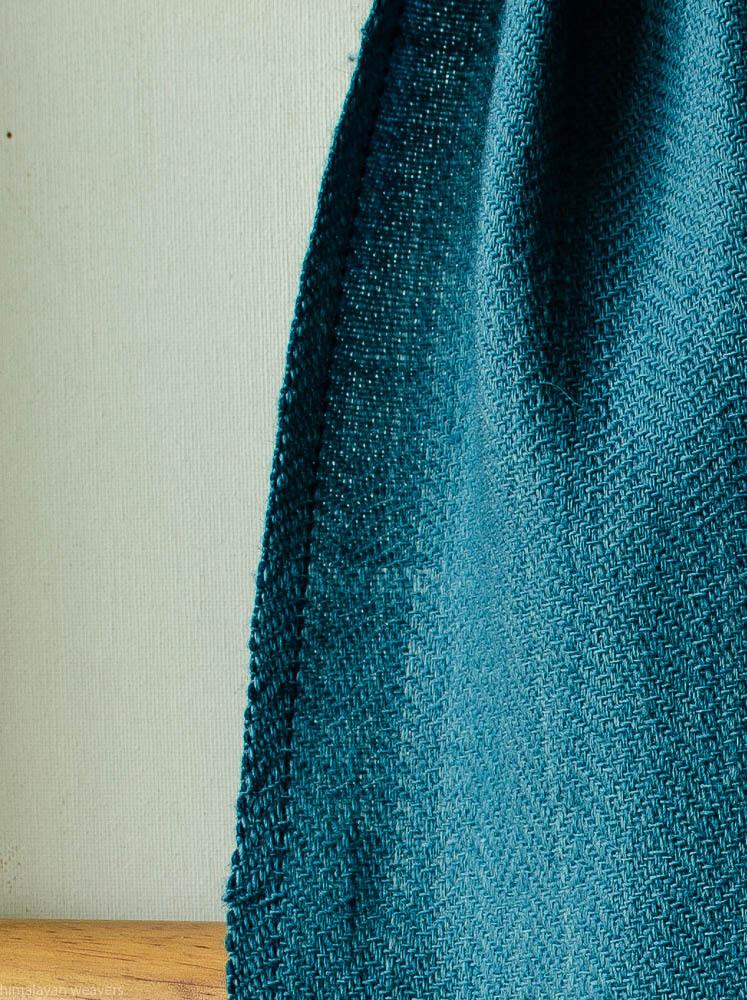 Handwoven Woollen Scarf Dyed with Indigo