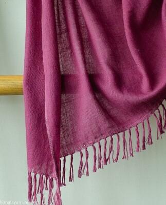 Hand-woven Pashmina Shawl dyed with shellac and sappanwood