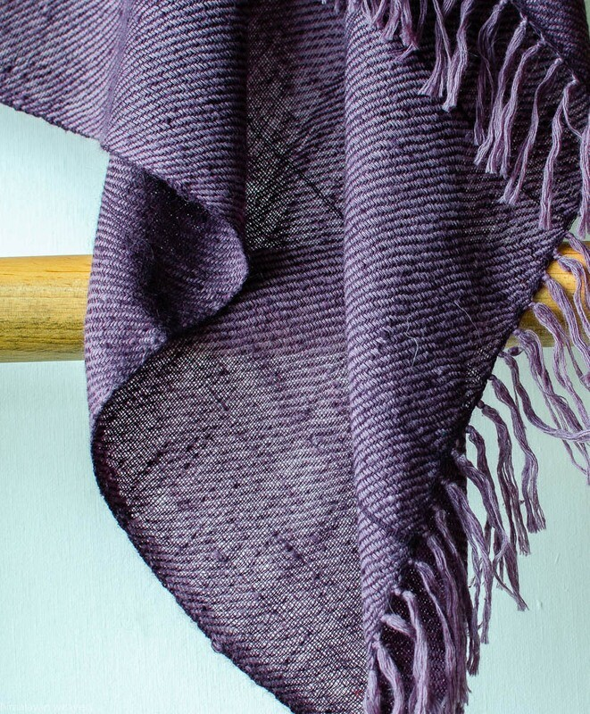 Hand-woven Pashmina Shawl dyed with shellac and sappanwood