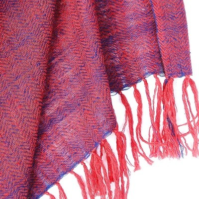 Hand-woven Pashmina Stole dyed with madder and indigo