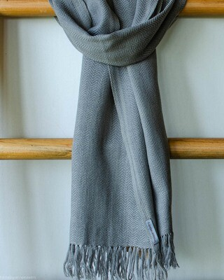 Handwoven Woollen Scarf Dyed with harada