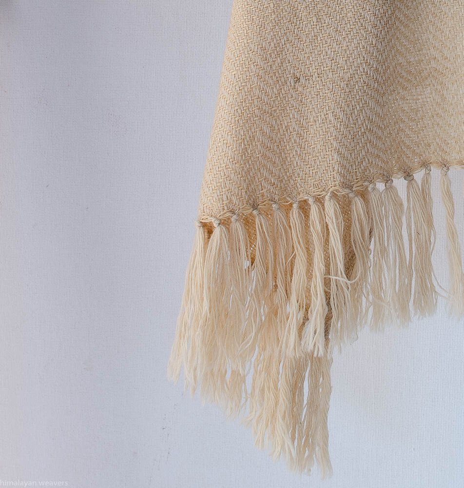 Handwoven Woollen Scarf Dyed with tea
