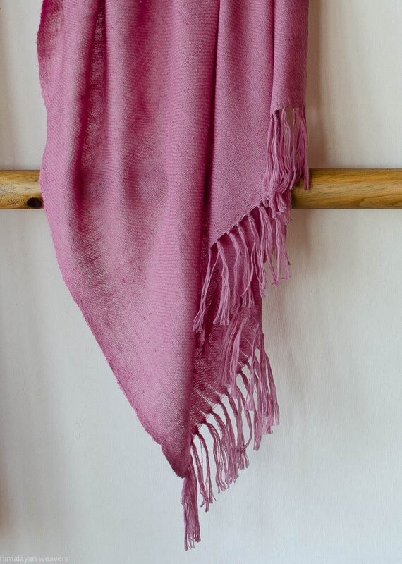 Hand-woven Pashmina Stole dyed with shellac