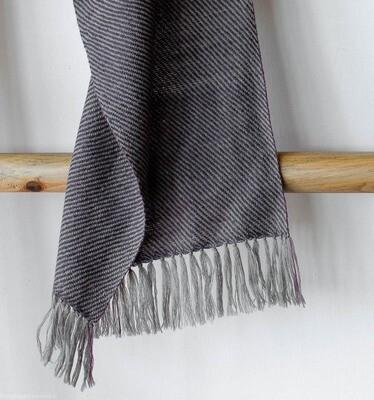 Handwoven Woollen Scarf Dyed with shellac, sappanwood, tea and harada