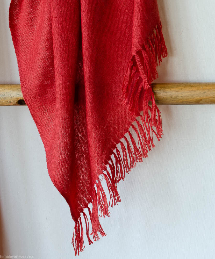 Hand-woven Pashmina Stole dyed with madder