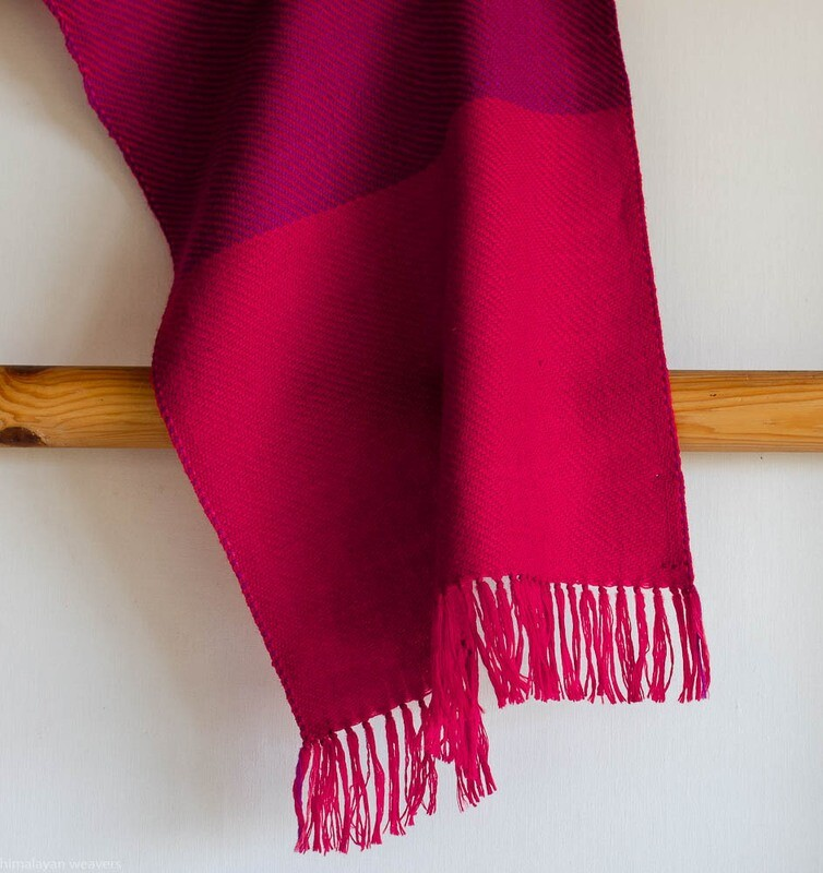 Handwoven Woollen Scarf Dyed with madder and sappanwood