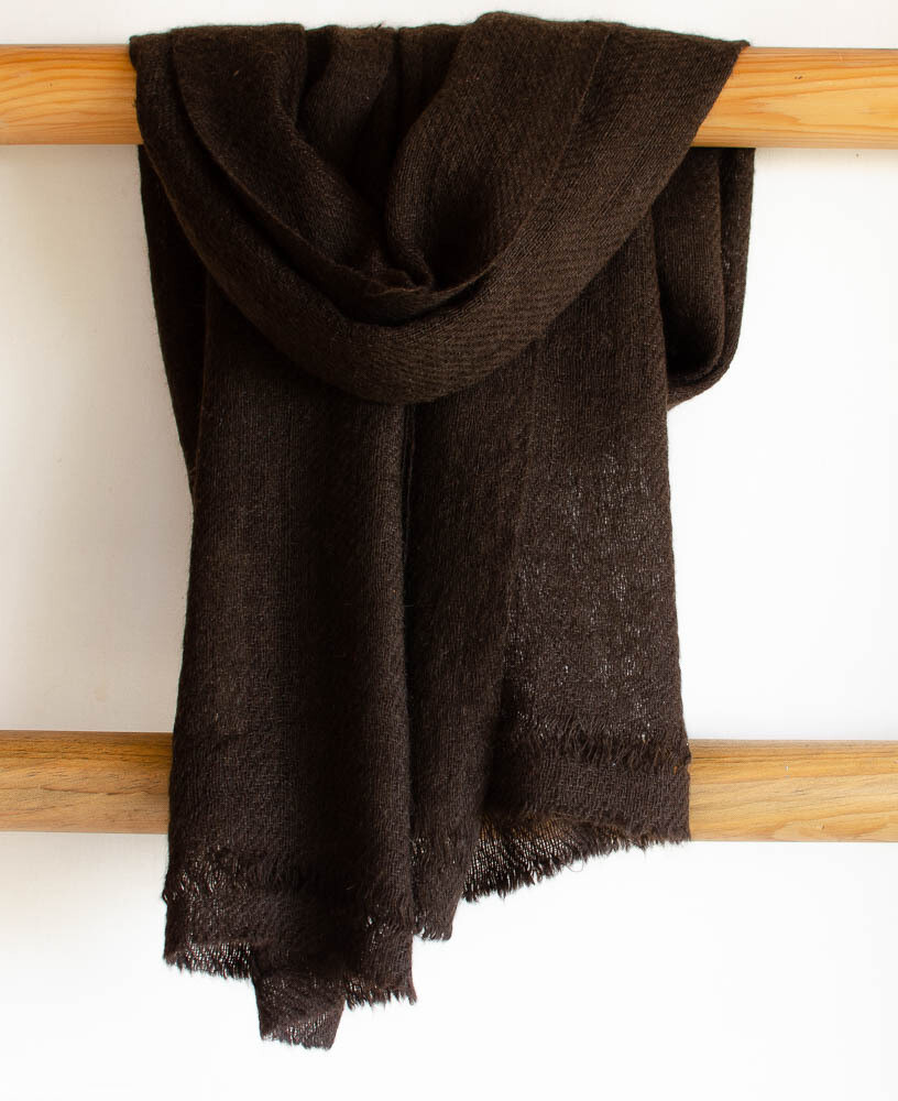 Yak Wool Scarf Handspun and Handwoven