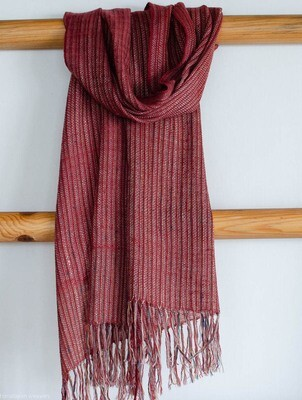 Hand-woven Pashmina Scarf coloured with Natural Dyes