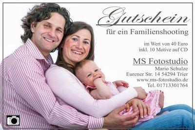 Gutschein für ein Portrait und Familienshooting