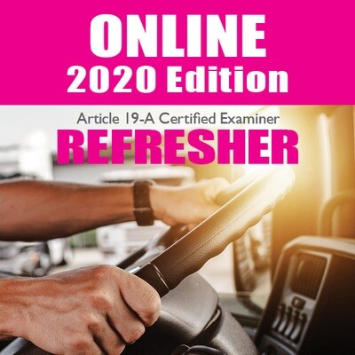 2020 Online Article 19-A CE Refresher