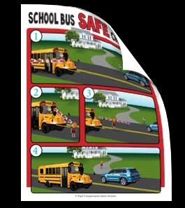School Bus Safe Crossing Vinyl Decal for inside the School Bus