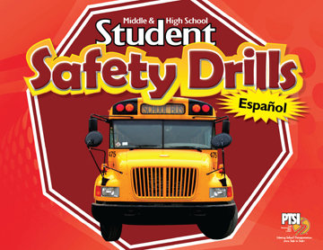 SPANISH VERSION Student Safety Drill Flip Chart for MIDDLE & HIGH SCHOOL STUDENTS