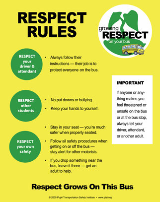 """""""Respect Rules"""" Bus Poster"""
