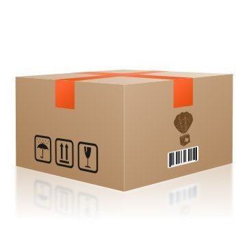 """#4 Caja 22"""" x 22"""" x 14"""" pared sencilla"""