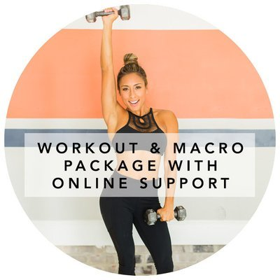 NEW CLIENTS WORKOUT AND MACRO PACKAGE WITH ONLINE SUPPORT