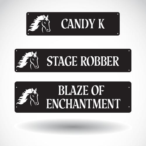 Horse Stall Nameplate SB-A-001