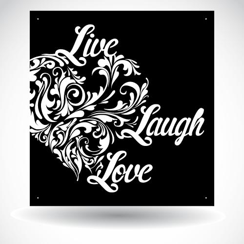 Live Laugh Love Heart Panel SB-H-003