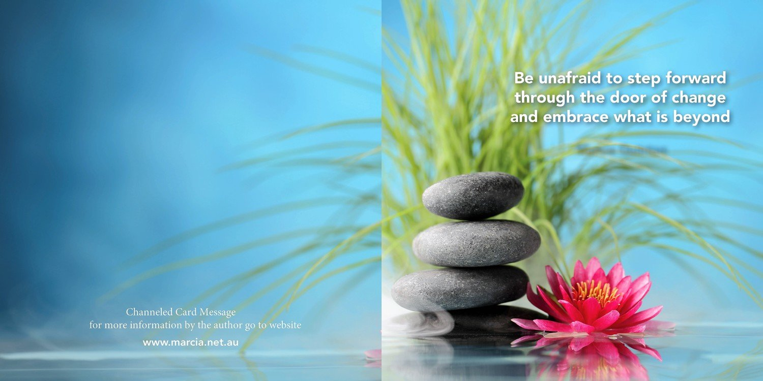 Inspirational channelled message card - Change