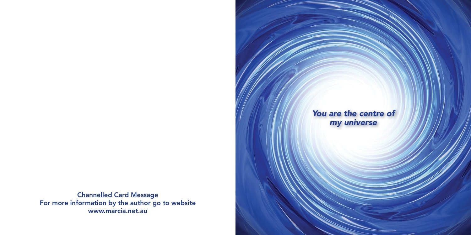 Inspirational channelled message card - Universe
