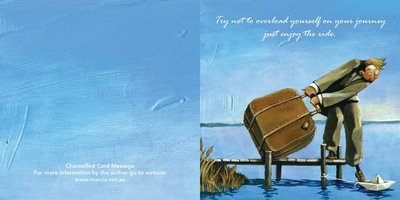 Inspirational channelled message card -  Boat