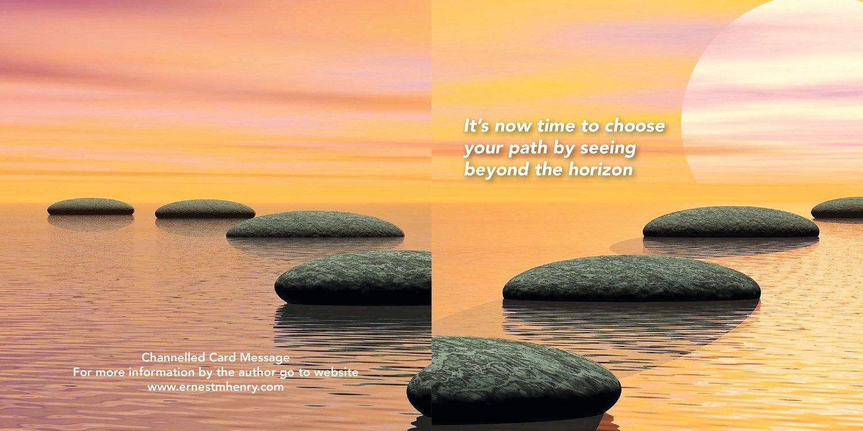 Inspirational message card - Path