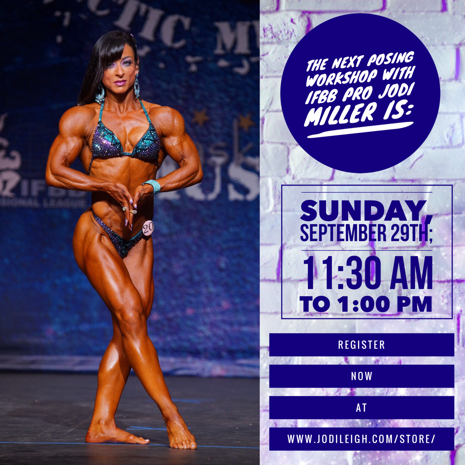 September 29th Posing Workshop With Jodi Leigh Miller Ifbb Pro 90 Minutes In Length Miller, an attractive bodybuilder and figure competitor, was born in chicago, illinois on november 8, 1972, and. september 29th posing workshop with jodi leigh miller ifbb pro 90 minutes in length