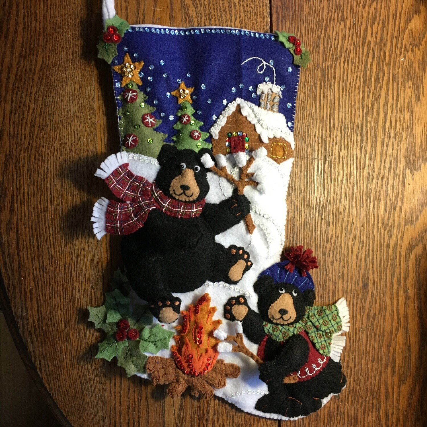 Christmas Stocking Bears Camping