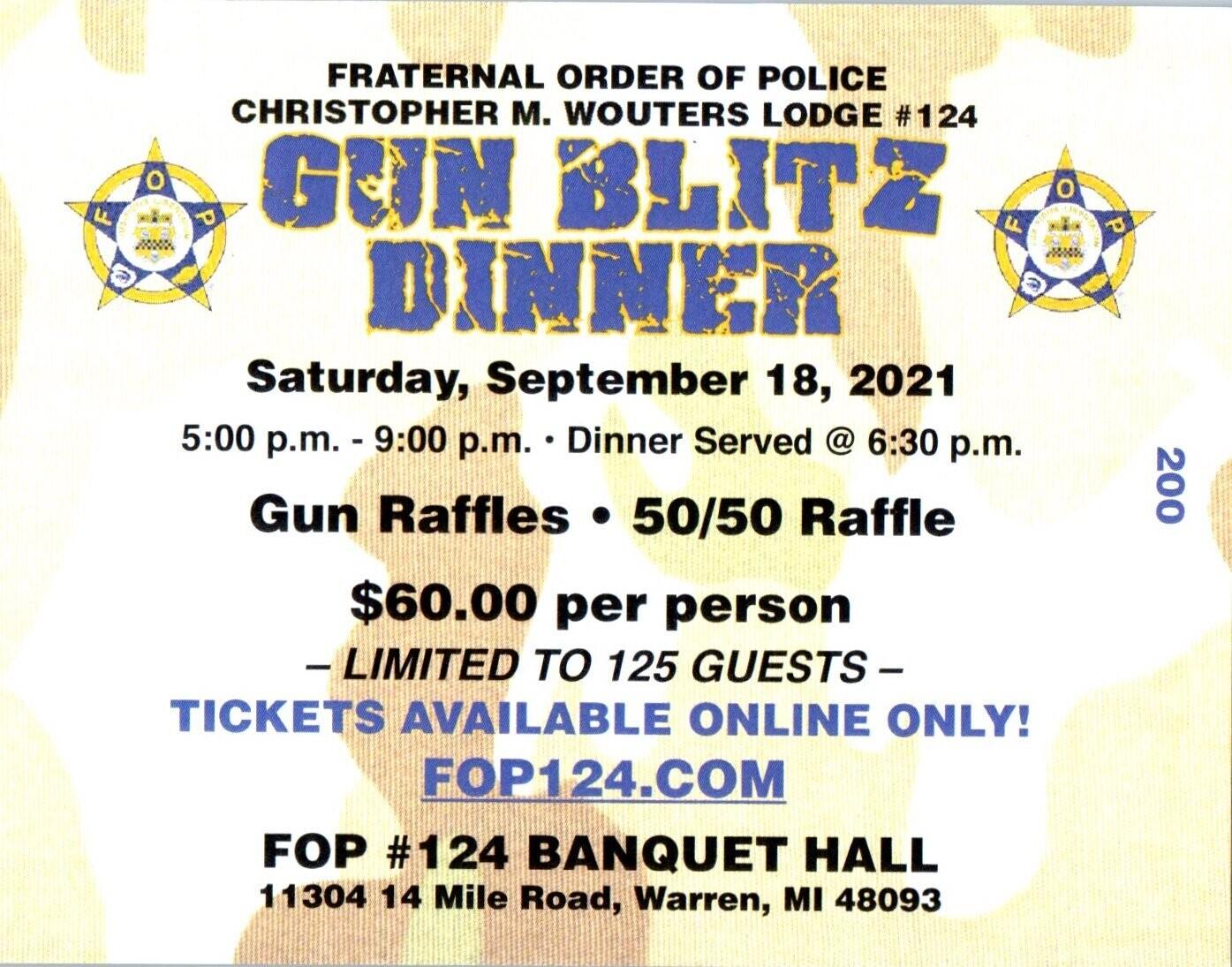 Gun Blitz Dinner