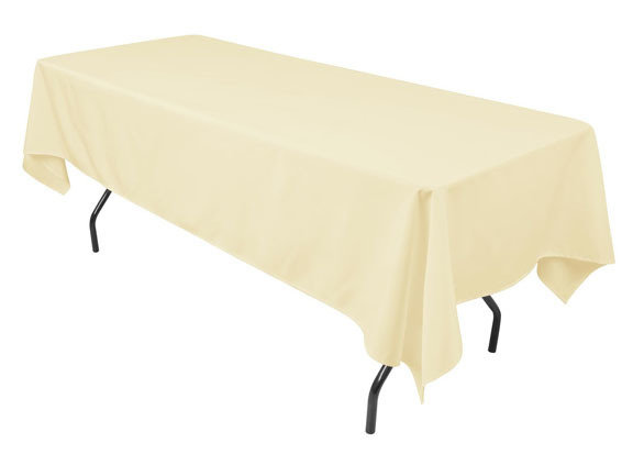 """Banquet Table Ivory 52"""" x 114"""""""