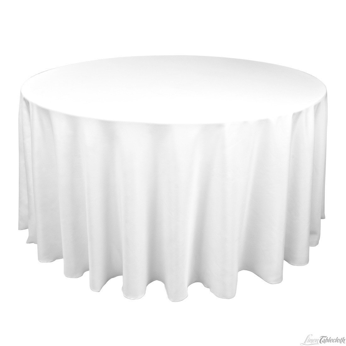 """Round Banquet Table Extra Long White 120"""""""