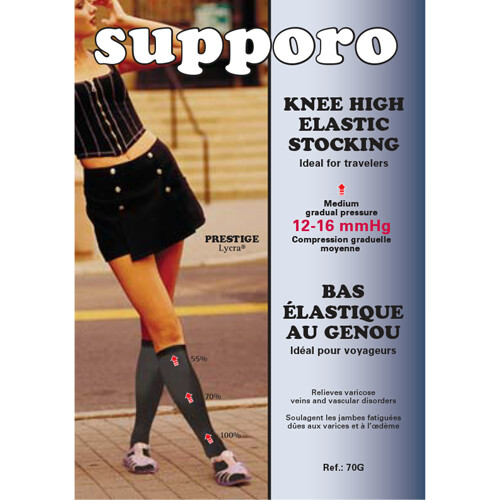 Supporo Knee High Elastic Support Stocking 12-16 mmHg