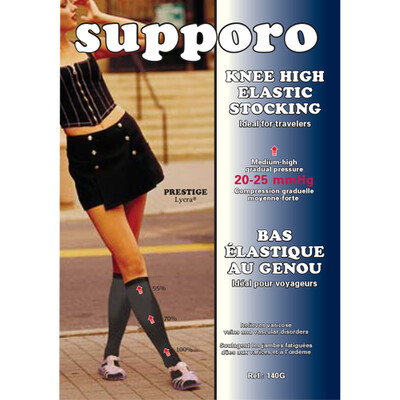 Supporo Knee High Elastic Support Stocking 20-25 mmHg