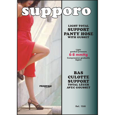 Supporo Support Panty Hose 6-8 mmHg Light Total with Gusset