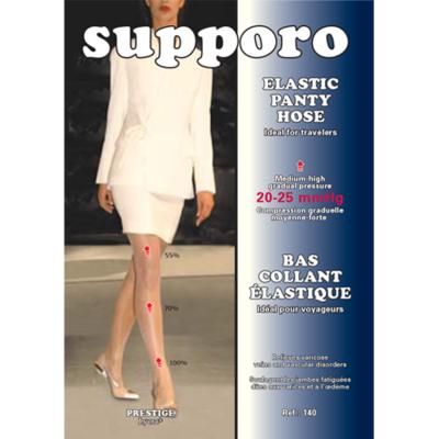 Supporo Elastic Panty Hose Medium-High Gradual Pressure 20-25 mmHg