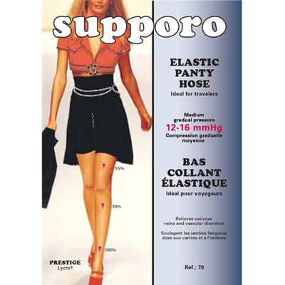 Supporo Elastic Panty Hose Medium Gradual Pressure 12-16 mmHg
