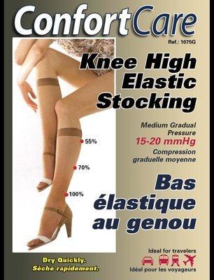 Support Knee High Stockings for women (15 - 20 mmHg)
