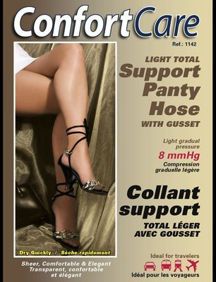 Elastic Support Panty Hose (8-10 mmHg) Light