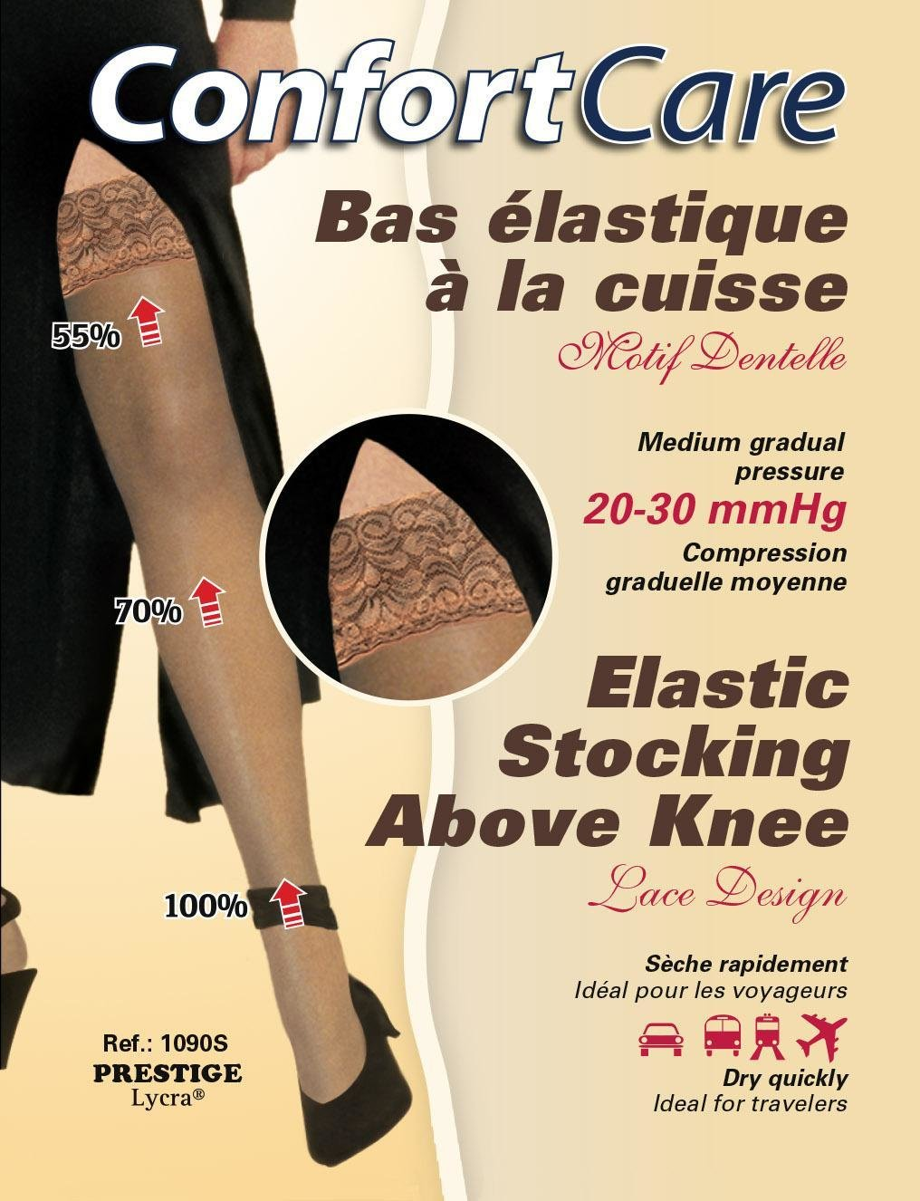 Elastic Stockings Above knee high compression