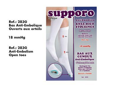 Anti-Embolism Supporo Knee High Stockings open Toe.