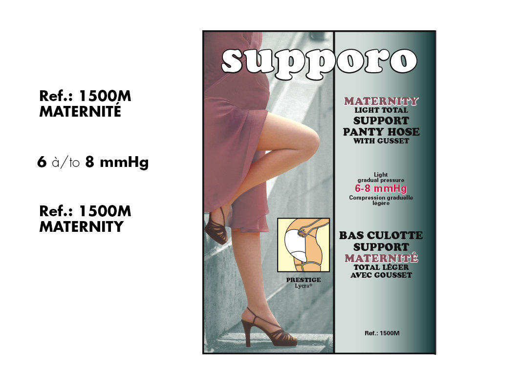 Supporo Bas Culotte Élastique Maternité (8-10mmHg) Supporo Maternity Elastic support  Panty Hose.