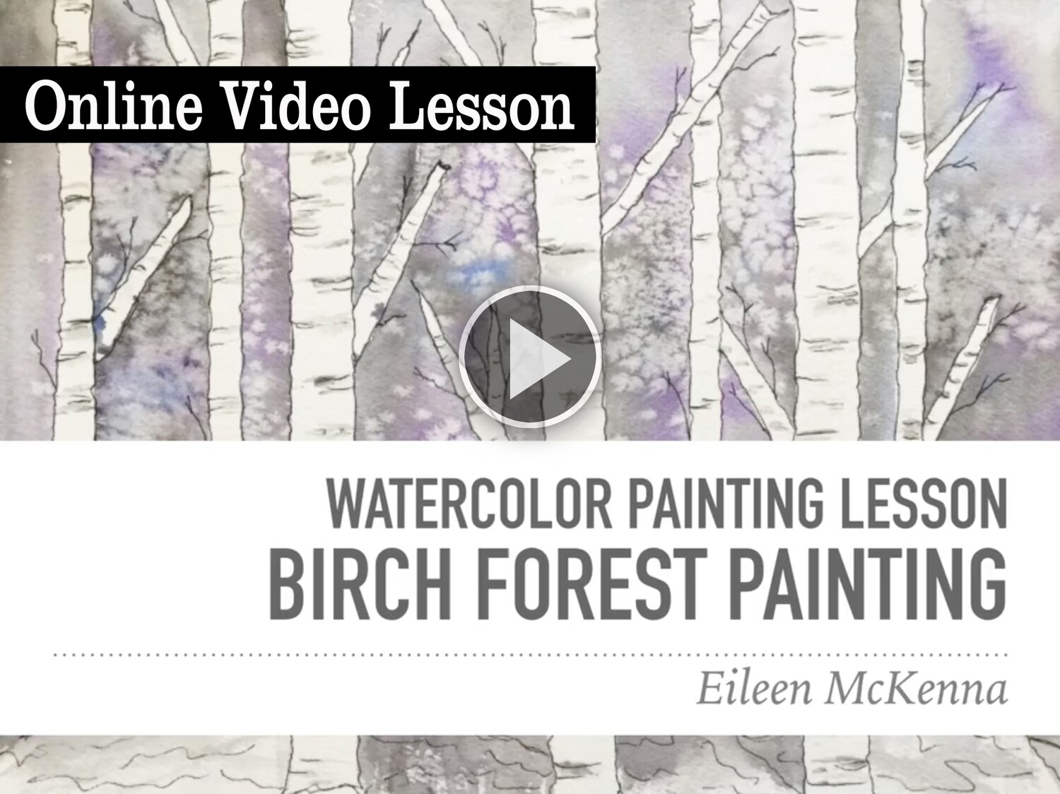 Birch Forest Watercolor Online Video Painting Lesson